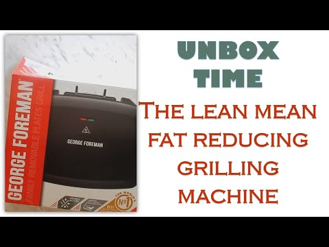 UNBOX & REVIEW George Foreman Removable Plate Grill 24330 | Lean mean fat reducing grilling machine!