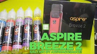 Aspire Breeze 2 + Swaggsauce Salt Nic on VapeAM!