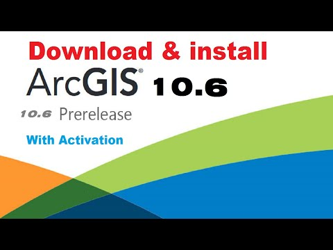 Download & install ArcGIS 10 6 + crack