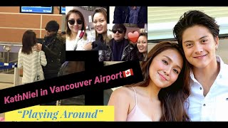 "Kathniel in Vancouver Airport 2014 ""Playin around"""