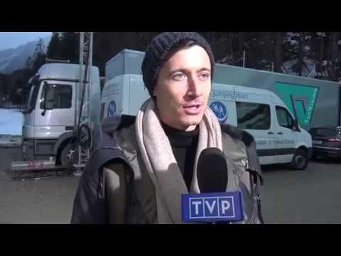 Robert Lewandowski na Pucharze Świata w skokach narciarskich [05.02.2017]