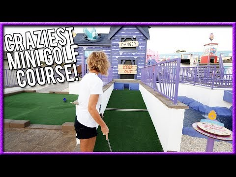 THE BEST THEMED MINI GOLF COURSE EVER! - CRAZY HOLE IN ONES AND AWESOME SHOTS!