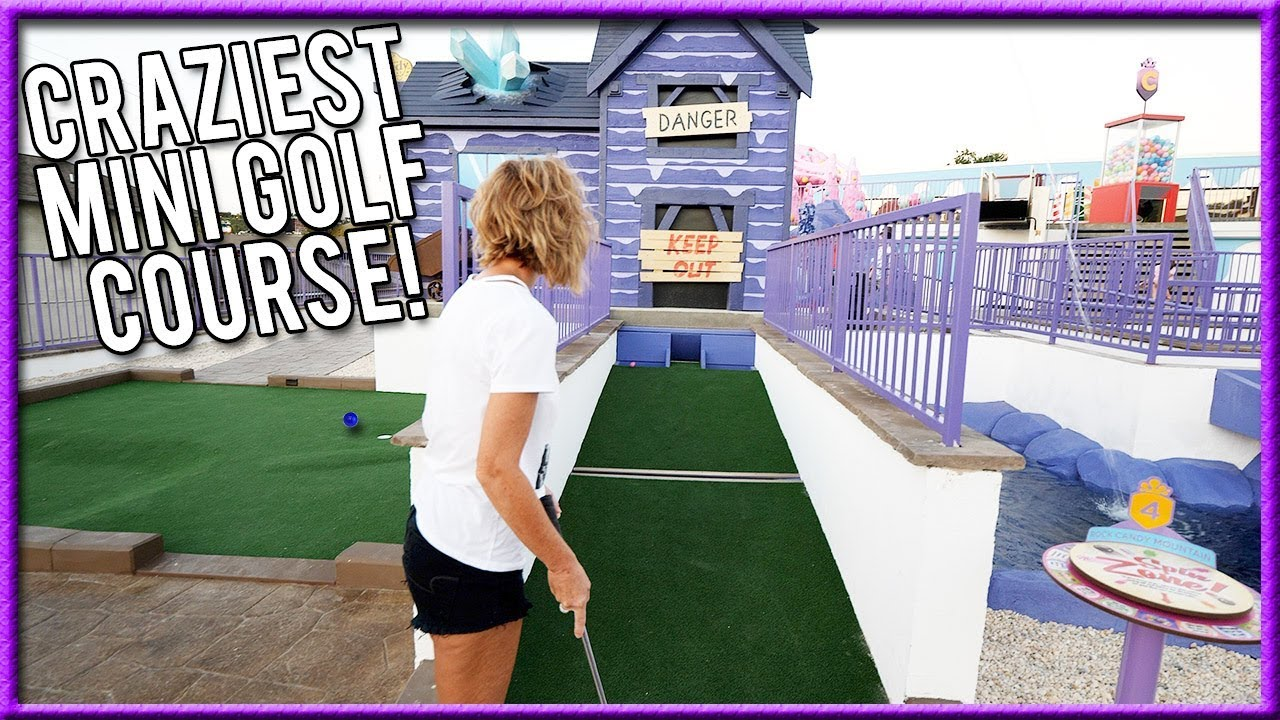 THE BEST THEMED MINI GOLF COURSE EVER! - CRAZY HOLE IN ONES AND AWESOME  SHOTS!   Brooks Holt