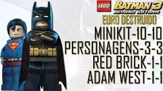 LEGO Batman 3 100% #7 Euro Destruído (Mini kits, Red Brick,Adam West, Personagens)