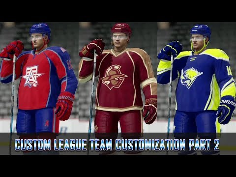 NHL 18 - Custom League - Creating The Teams Part 2