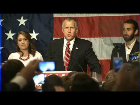 RAW: Thom Tillis gives victory speech after winning NC Senate race