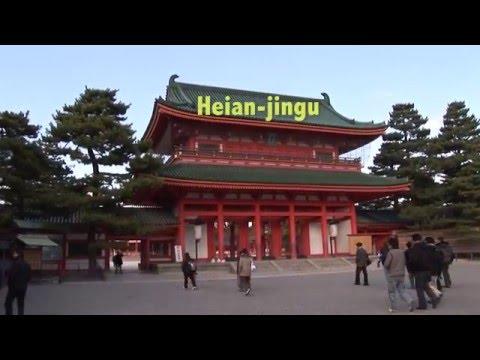 Heian-jingu temple and gardens, Kyoto, Japan travel video