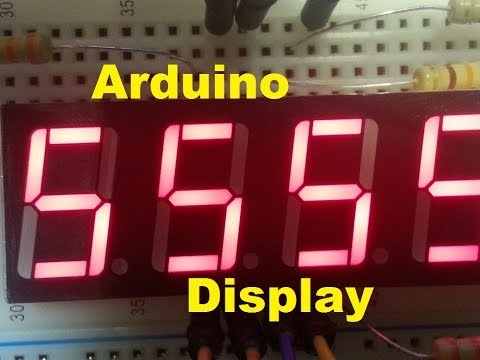arduino mega - How to wire up 4-digit 7-segment display
