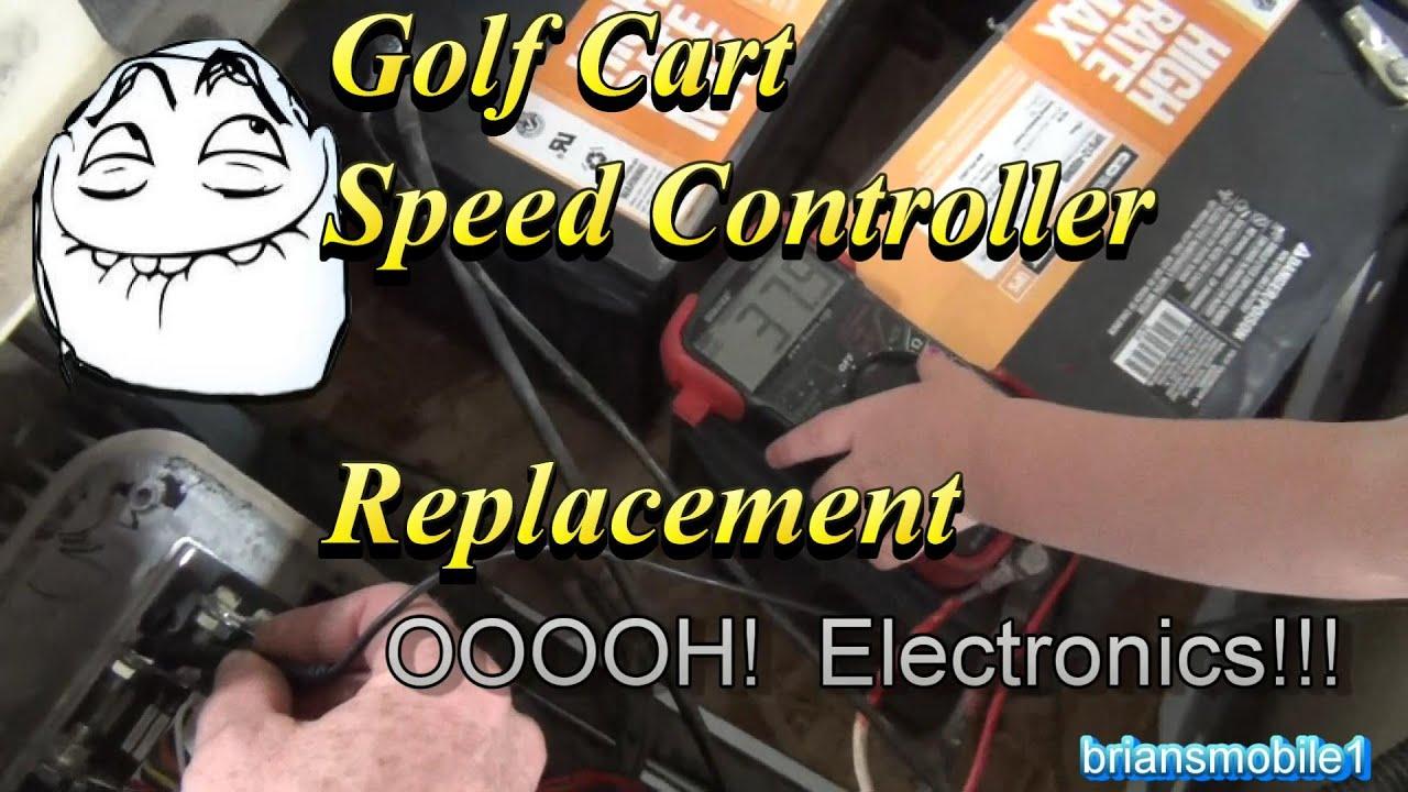 6 Volt Golf Cart Wiring Diagram Golf Cart Speed Control Alltrax Dcx Youtube