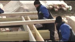 Дома из двойного бруса - строительсвто по финской технологии от фундамента до крыши