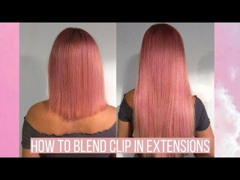 How to: Blend extensions with short blunt hair easy