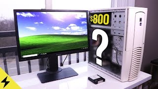 Building a Mystery $800 Sleeper Gaming PC with a Fan!