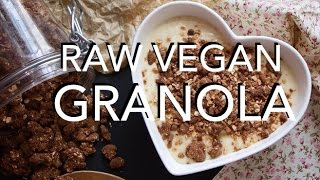 Raw Vegan Granola - Low Fat, Nut & Gluten Free