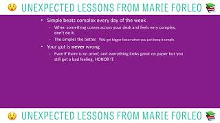 Unexpected Lessons From Marie Forleo