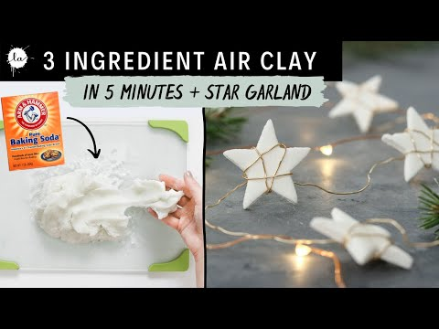 Easy Star Garland DIY with a 3 Ingredient Air Dry Clay Recipe Tutorial !