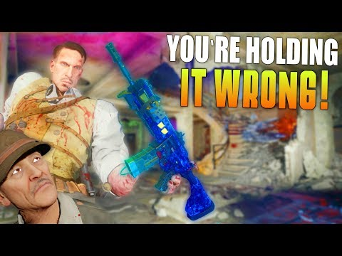 YOU'RE HOLDING IT WRONG! (Zombie Chronicles Nacht Der Untoten Remastered Gameplay) Funny Moments!