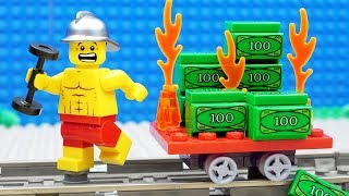 Lego Train Gym Money Fail - Firefighter