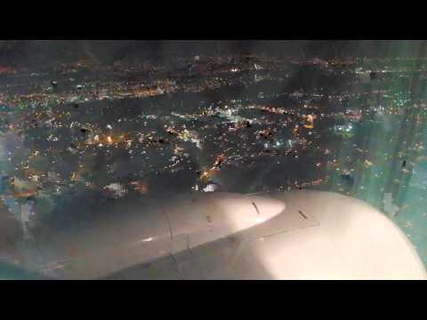 Clear Night Landing @ Guatemala City. La Aurora Airport.
