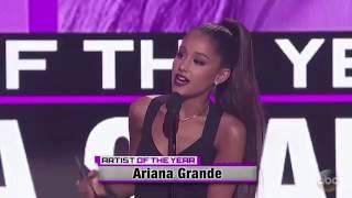 ariana grande wins artist of the year ama 2016 award