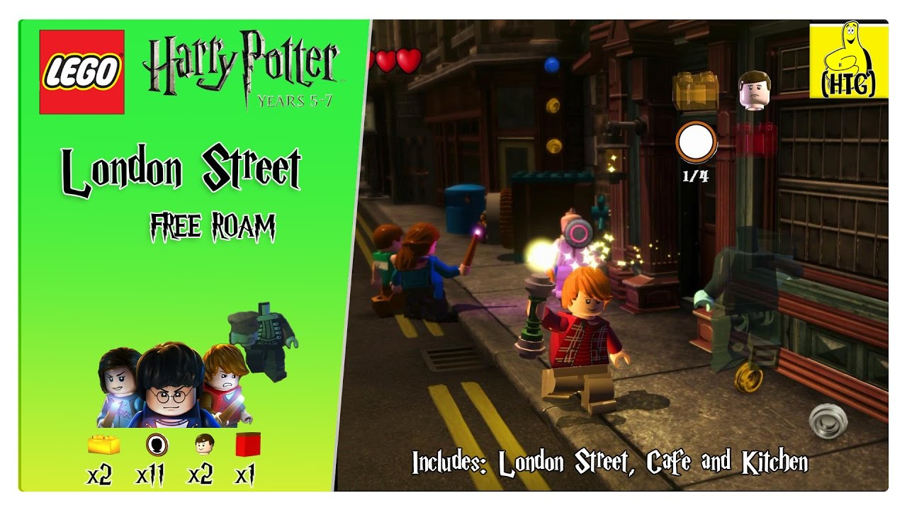 Lego Harry Potter 5 7 London Streets Free Roam All Collectibles Htg Youtube