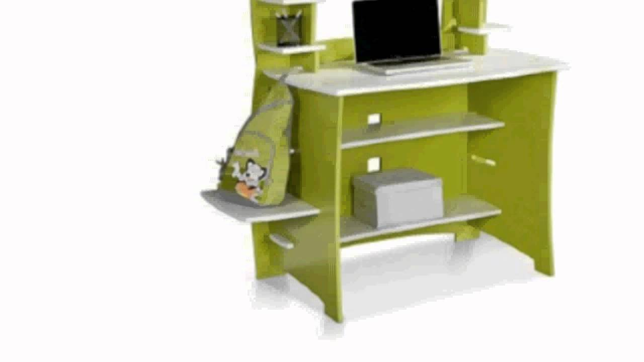 Legare 36 Inch Kids Desk And Hutch Green White Home