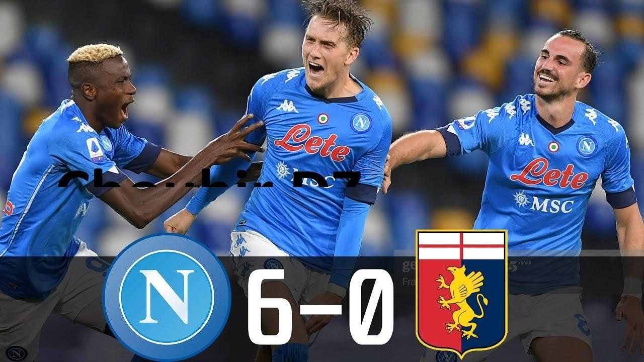 Napoli Vs Genoa 6 0 Serie A 27 09 2020 Hd Youtube