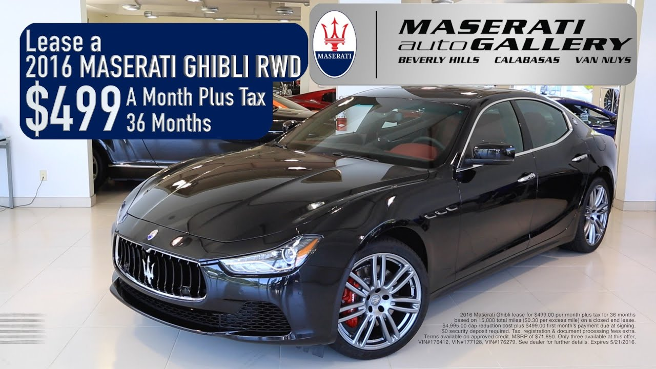 Maserati Ghibli Lease Special - YouTube