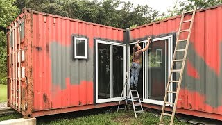 Shipping Container - How to Install Aluminum Doors - Living Tiny Project Ep. 011