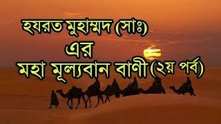 হযরত মুহাম্মদ (সাঃ) এর মহা মূল্যবান বাণী । ২য় পর্ব Prophet Muhammad peace be upon him valuable words