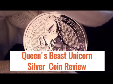 Silver Bullion Coin Review of the Queen Beast Unicorn