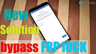New Solution Bypass FRP Lock GOOGLE ACCOUNT Android 8.1 | 8.0