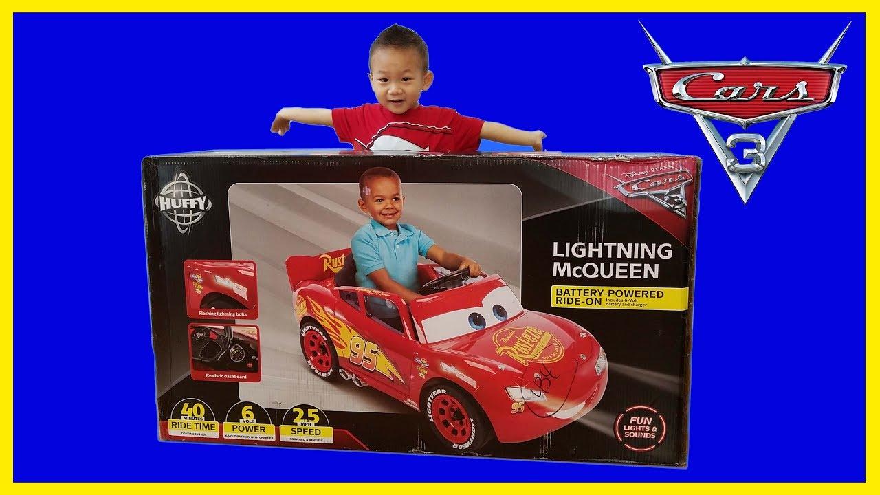 4547ea8571c Disney Cars 3 Lightning McQueen 6 Volt Ride On Power Wheel Unbox   Assemble