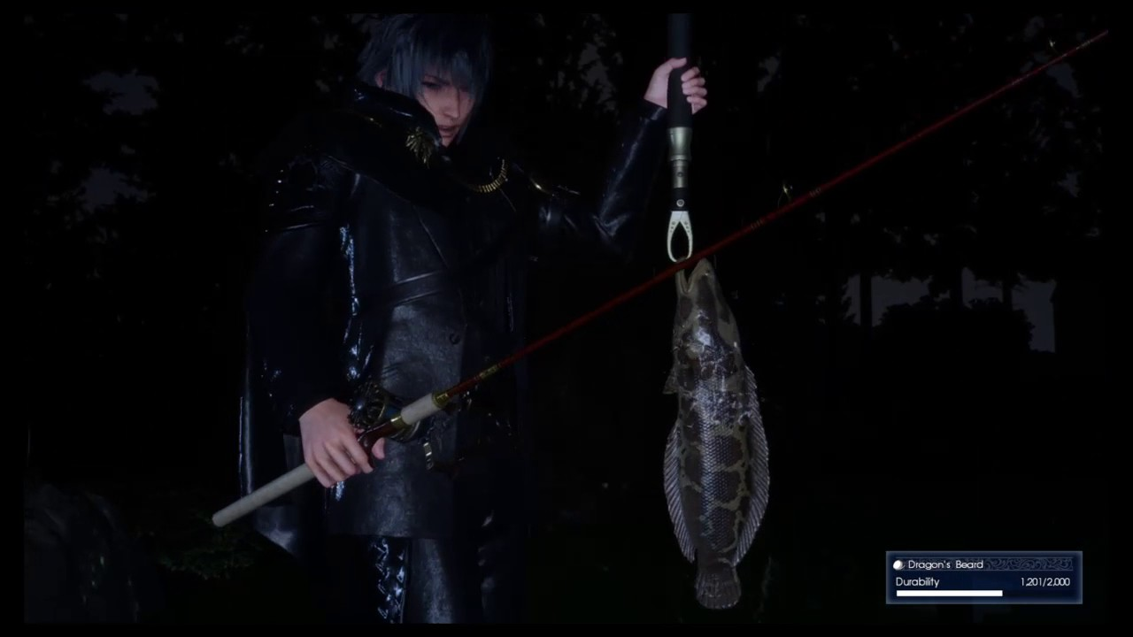 Final fantasy xv fishing phantom snakehead finally for Final fantasy 15 fishing