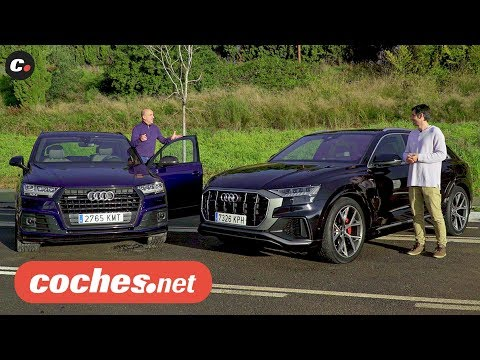 Audi Q7 vs Audi Q8 SUV | Comparativa / Prueba / Test / Review en español | coches.net