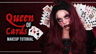 QUEEN OF CARDS 👑 Halloween Makeup Tutorial (deutsch) - #SPOOKTOBER - Queen Of Hearts