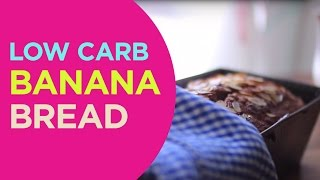 Lowcarb Banana Bread {glutenfree, Sugarfree, Paleo}| Quick 'n Yummy
