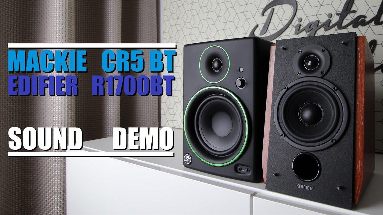 Mackie CR5 BT vs Edifier R1700BT  ||  Sound Demo w/ Bass Test