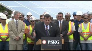 Governor Christie: New Jersey Is One Of The Leaders In Solar Energy