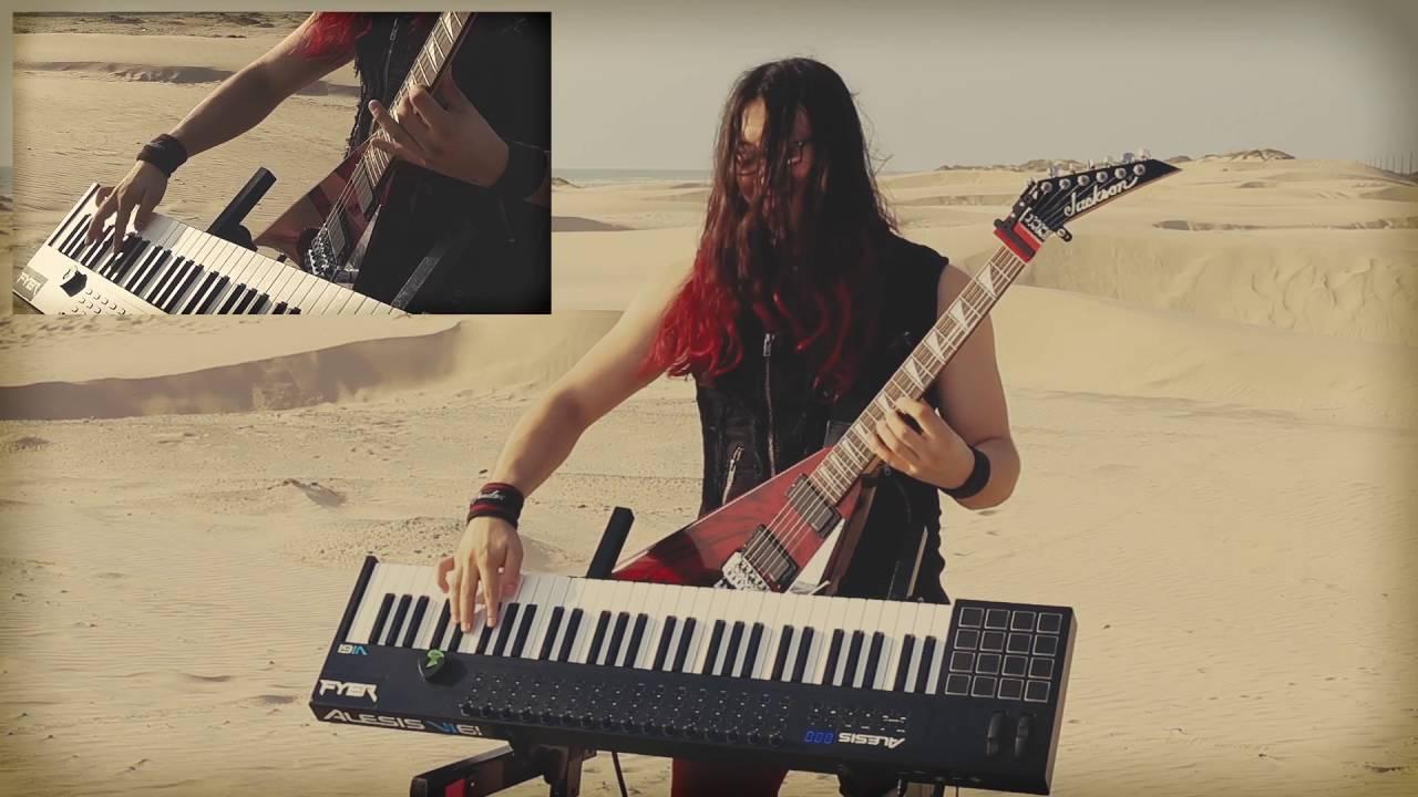 sweet child o 39 mine guns n 39 roses guitar keyboard cover youtube. Black Bedroom Furniture Sets. Home Design Ideas