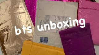 kpop unboxing: BTS enamel pins + lightstick straps