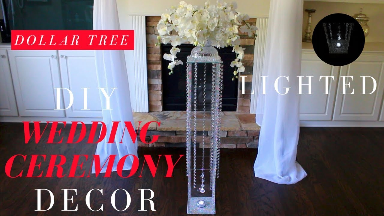 How To Make Diy Lighted Wedding Columns.Diy Wedding Ceremony Decorations Dollar Tree Wedding Decorations Wedding Aisle Decorations