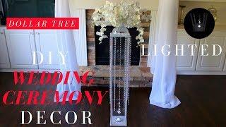 DIY Wedding Ceremony Decor   Dollar Tree Wedding Decorations   Wedding Aisle Decorations