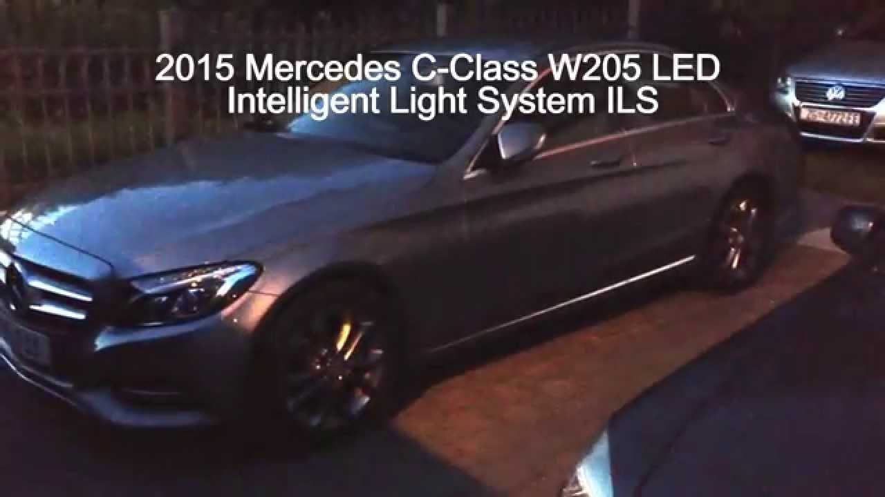 2015 mercedes benz c class w205 ils led intelligent light for Mercedes benz intelligent light system c class