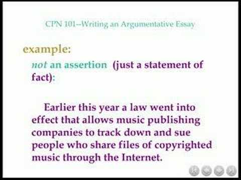 CPN 101 Steps in Writing an Argumentative Essay - YouTube