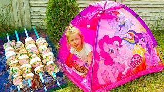 Пикник с палаткой МЛП и Кукла Беби Борн Как МАМА Май Литл Пони и Настюшик Baby Born outdoor fun
