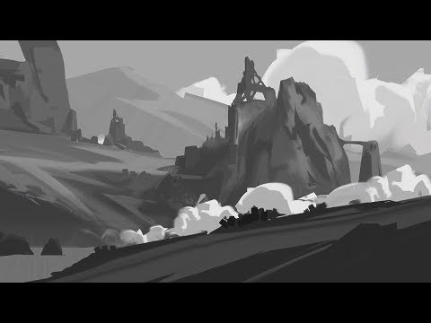 Sketching a Landscape: Digital Painting Time-Lapse