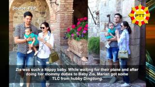 Repeat youtube video Dingdong Dantes And Marian Rivera's First U.S  Trip With Baby Zia