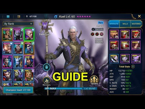 RAID: Shadow Legends - HOW TO BUILD KAEL - YouTube