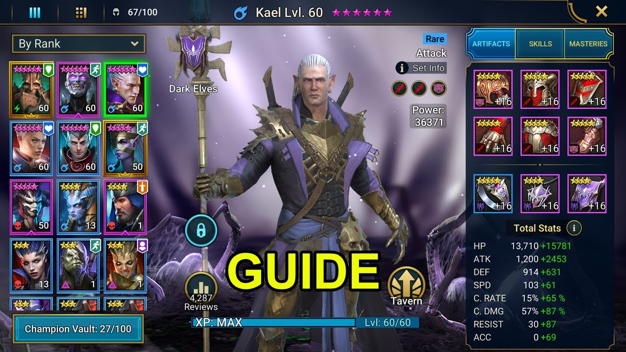 RAID: Shadow Legends - HOW TO BUILD KAEL