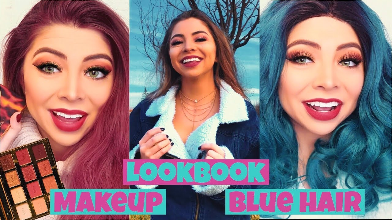 ♡ SHEIN CLOTHES HAUL | TOASTED MAKEUP TUTORIAL | BLUE HAIR ♡